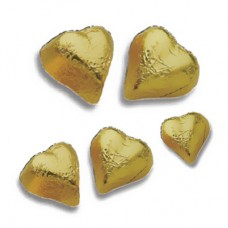 Chocolates Hearts Gold