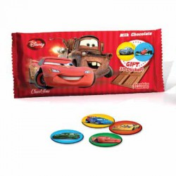 Milk Chocolate Bars Cars with 3D Sticker