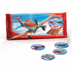 Milk Chocolate Bars Planes with 3D Sticker