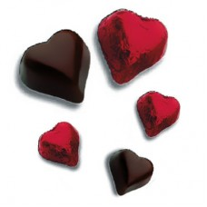 Compound Chocolates Hearts Red